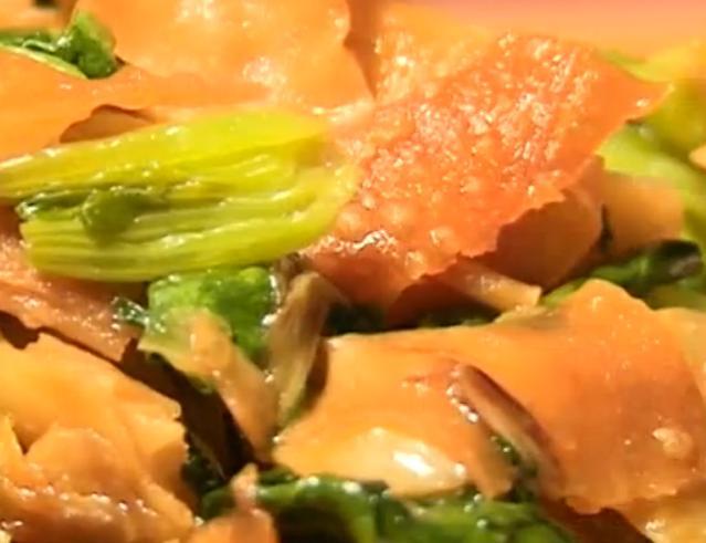 酱爆菠菜炒排叉