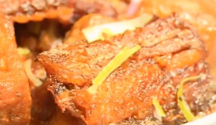 酥焖带鱼烧豆腐