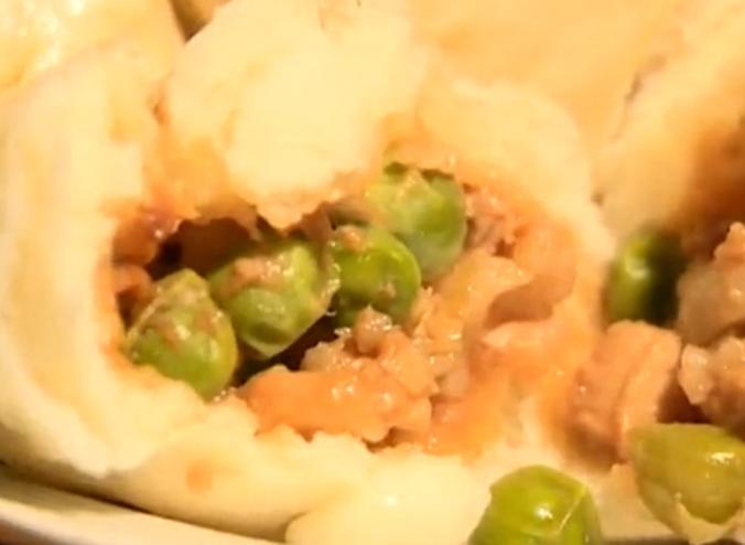 祖传豌豆酱肉包
